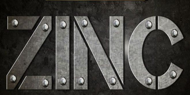 psd zinc text effect