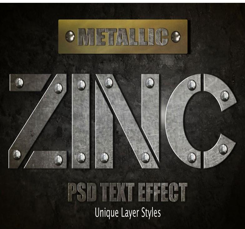 Download Zinc Text Effect