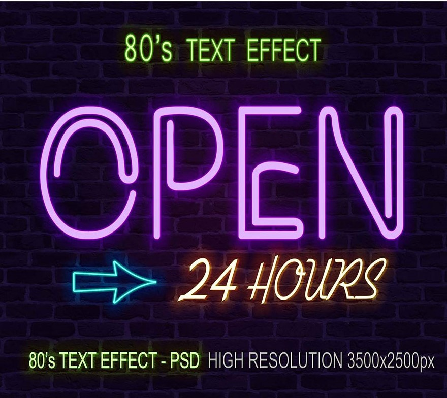 Download ´80 PSD text