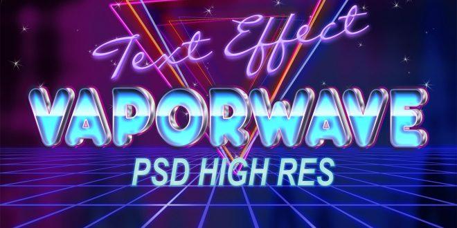 vapor wave text effect photoshop