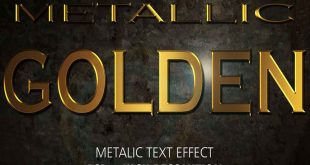 gold metllic text effect psd photoshop