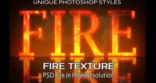 fire text effect psd photoshop