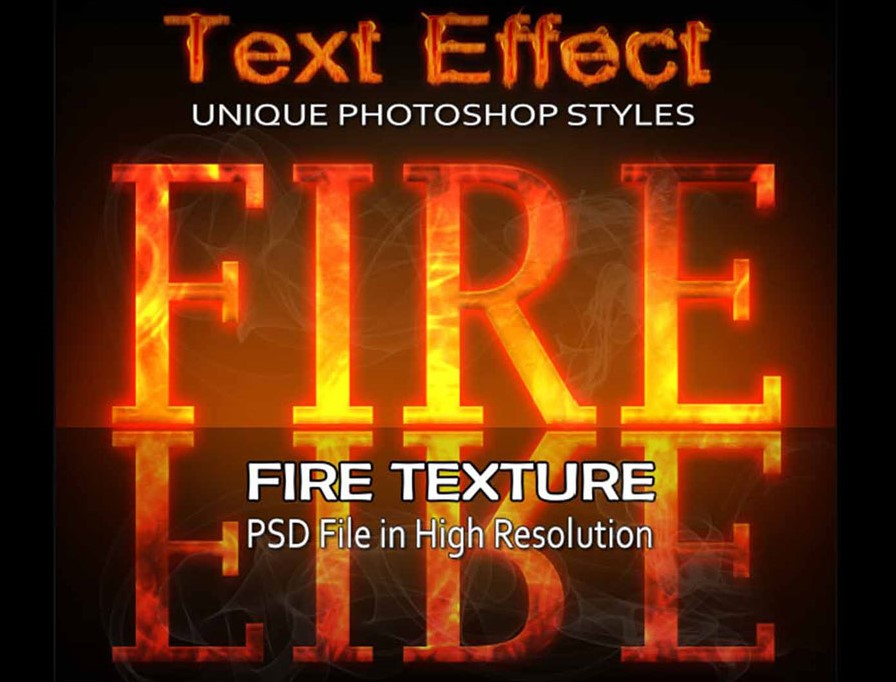 Download Fire text effect