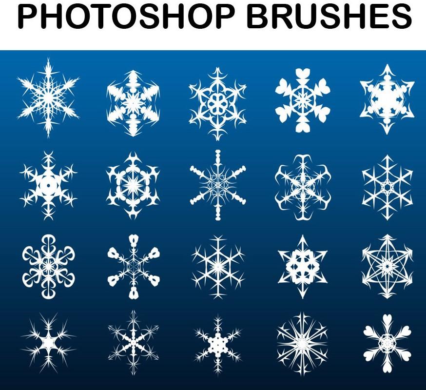 Download Snowflake Photoshop Brushes