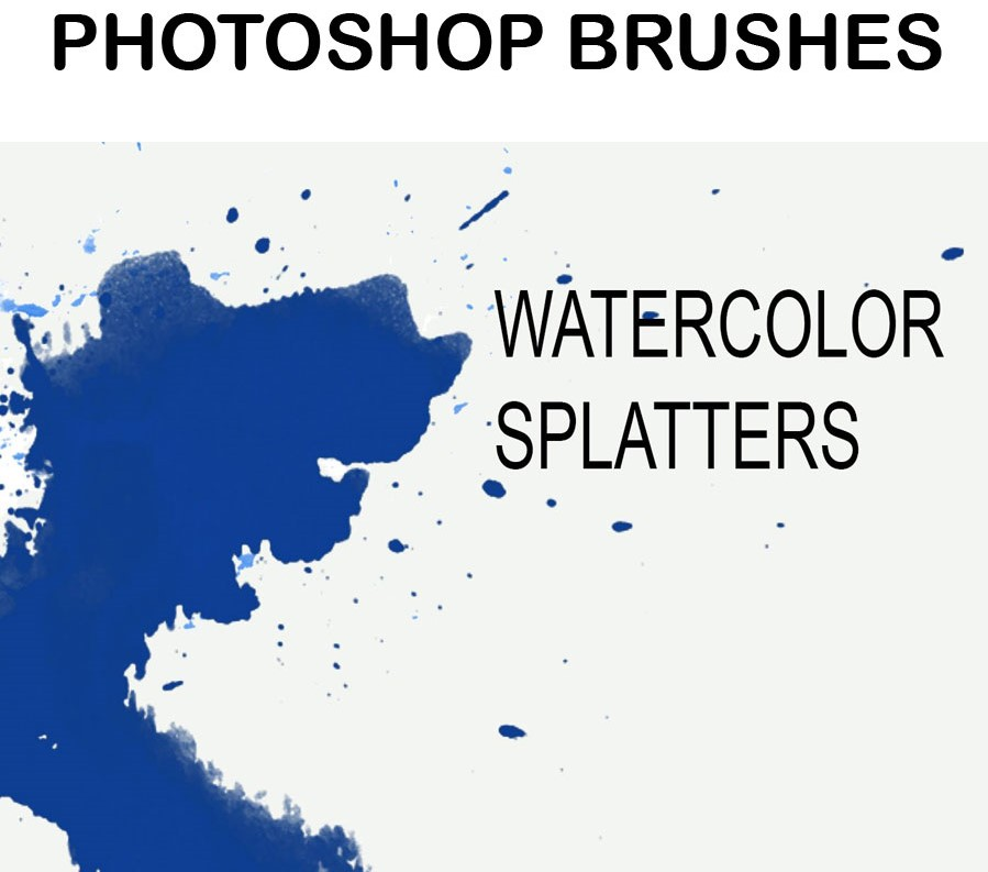 Download 32 Watercolor Splash Brushes